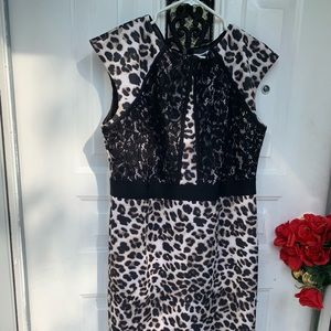 Leopard black  and white dress